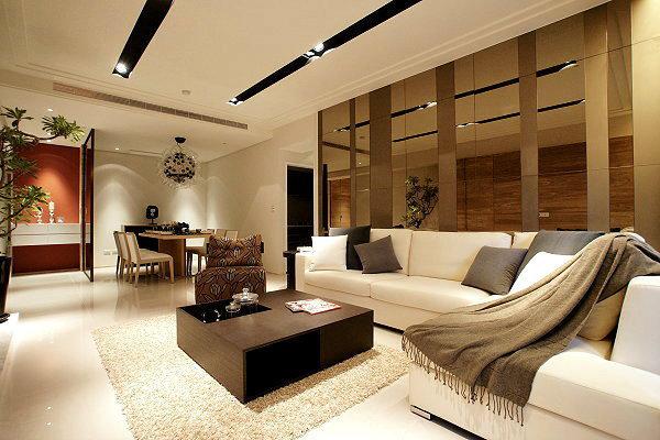 119平现代简约实品屋客厅装修效果图