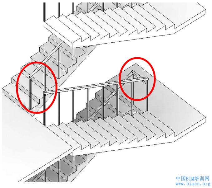 BIM软件小技巧:REVIT高效的楼梯扶手转角连接技巧