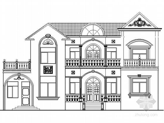 [毕业设计]两层现代风格私人独栋别墅设计施工图