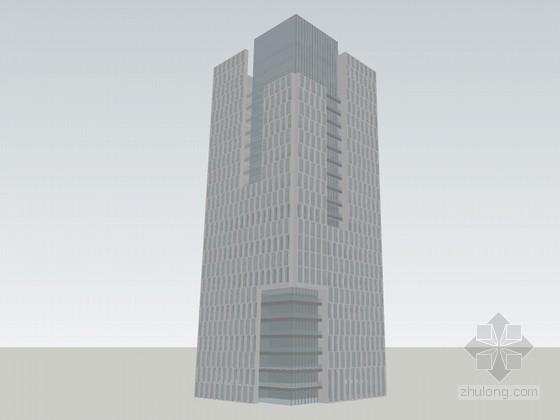 现代高层大楼SketchUp模型下载