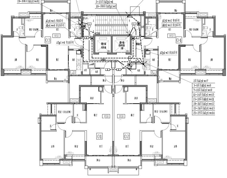 广东省大型住宅项目及配套商业公建电气施工图
