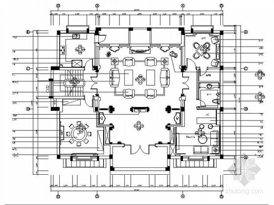 [浙江]豪华欧式三层别墅全套装修施工图(含效果)