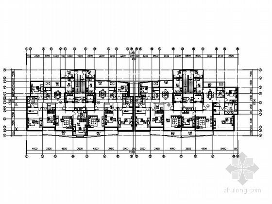 某高层板式住宅户型图(170、200平方米)