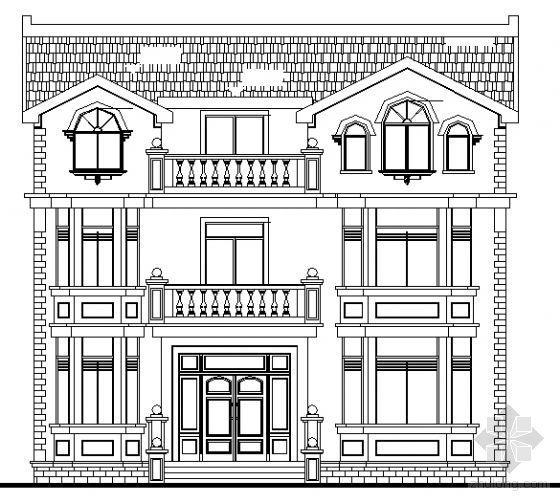 某三层欧式别墅施工图
