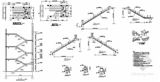 某砖混住宅楼梯节点详图