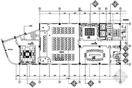 某职工培训中心CAD装修图