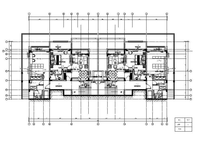 [重庆]山城大型旅游度假酒店别墅设计施工图