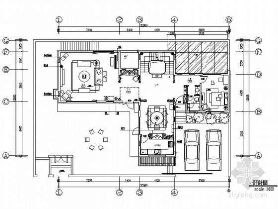 [北京]美式田园风格两层别墅样板房设计装修图(含实景)
