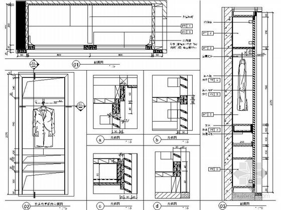 [北京]房山区现代高档四居室样板间装修施工图大样图