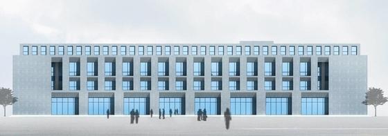 现代简约风格办公楼立面图