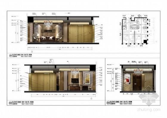 [福建]五星级豪华酒店样板房室内装修方案图
