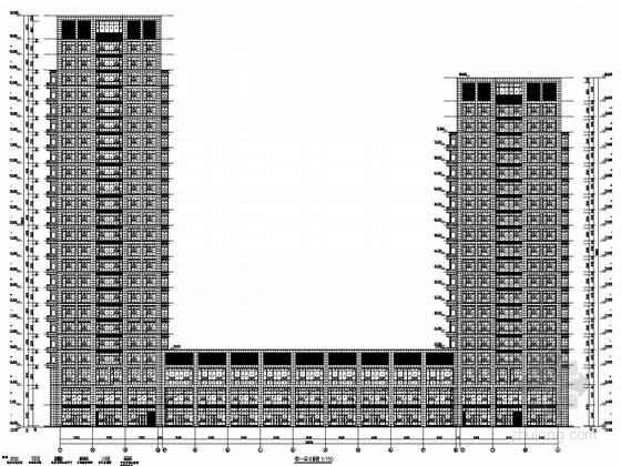 二十四层办公楼资料下载-[安徽]24+20层框架核心筒结构研发办公楼结构施工图(含建筑图)
