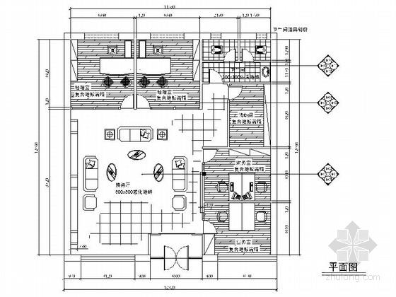 [沈阳]现代风格造纸厂装修cad施工图(含效果图 设计说明)