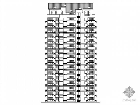 [温州]某拆迁安置项目1#十六层塔式住宅楼建筑施工图(一梯三户、顶层复式)