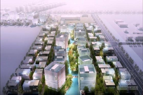 [上海]高层模块化合院式企业办公建筑设计方案文本