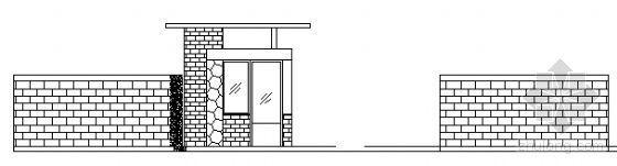 某小区门卫室建筑方案图