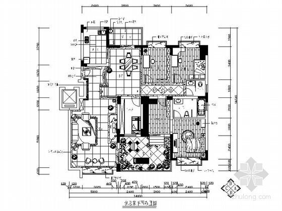 花园露台四居室装修图