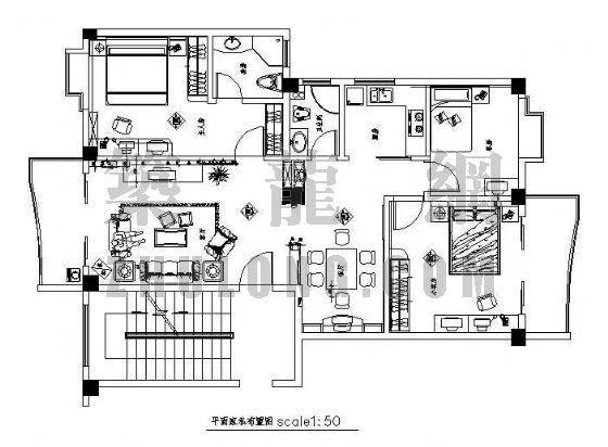 某三室两厅两卫装修图