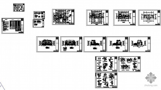东莞某三层钢结构别墅图纸