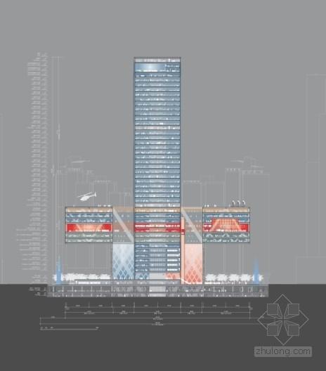 企业办公楼剖面图