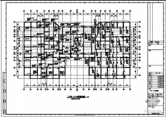 烟台某财富中心地下室至塔楼25层图纸