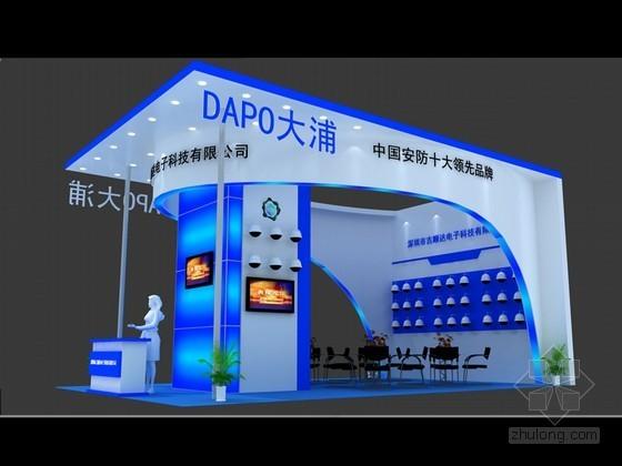 vr展资料下载-安防展展览特装3D模型下载
