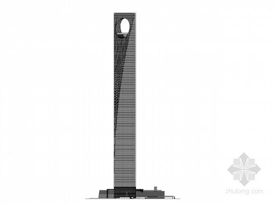 [上海]492米知名超高层写字楼建筑方案图