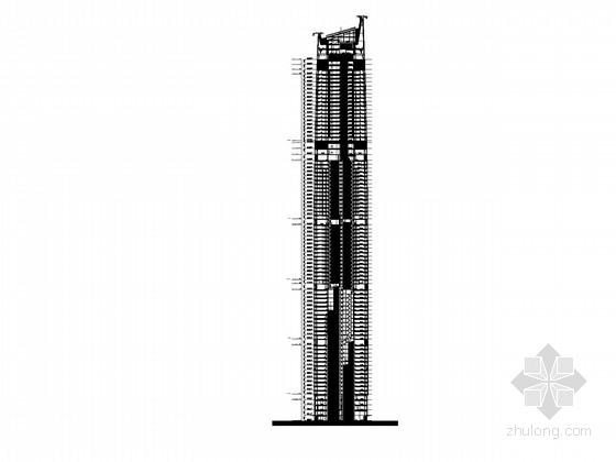 [湖北]88层超高层商业综合体建筑施工图(知名公司设计)