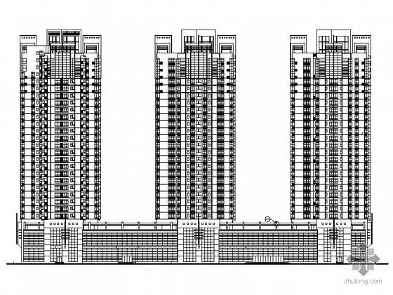 [深圳]某二十六层住宅楼建筑施工图(含效果图)