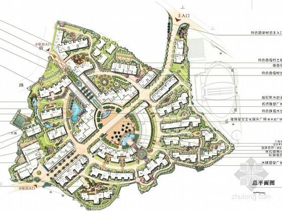 [福州]现代风格居住区景观扩初设计方案
