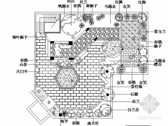 屋顶庭院园林景观工程施工图