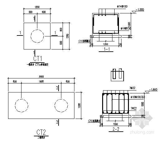 圆钢柱基础柱脚节点详图