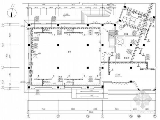 商业综合楼空调通风及防排烟系统设计施工图(风冷热泵机组)