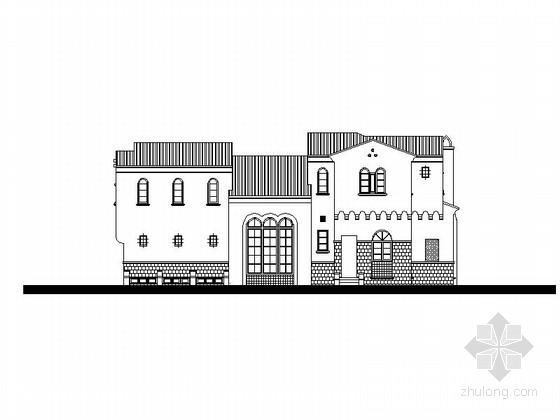 [广州]两层花园式住宅建筑施工图(含效果图)
