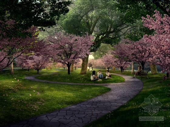 公园绿地植被PSD分层素材下载