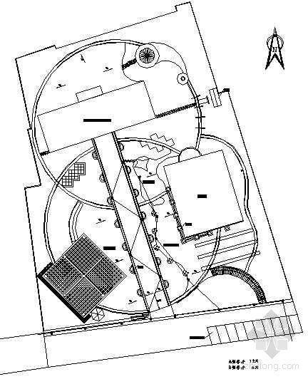 某老年活动中心排水方式及窨井位置图