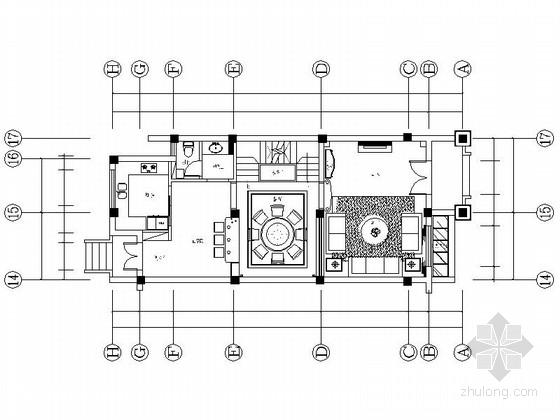 [宁波]简约温馨三层别墅室内设计CAD施工图