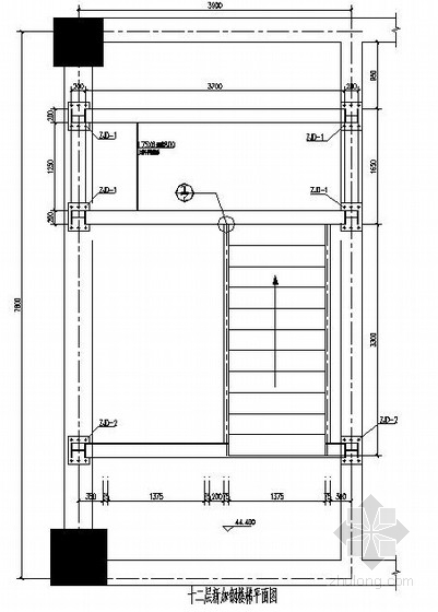 局部新增钢结构楼梯及局部混凝土加固改造施工图