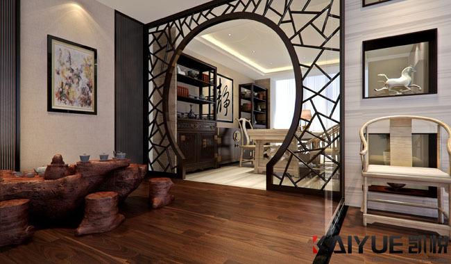 中式风格办公室装修设计-美时美刻生物科技_6