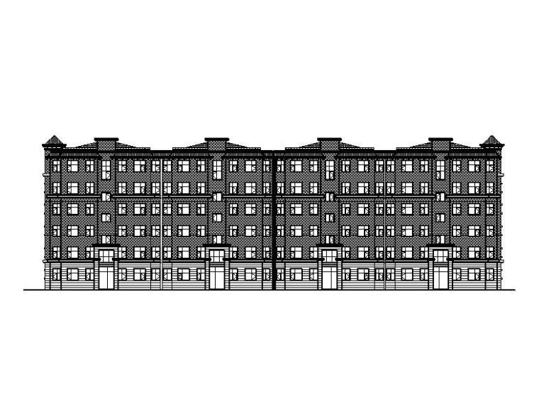 [宁夏]多层框架结构商住楼建筑施工图全套专业图纸