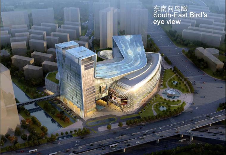 [福州]大型雕塑感现代风格综合商场建筑设计方案文本