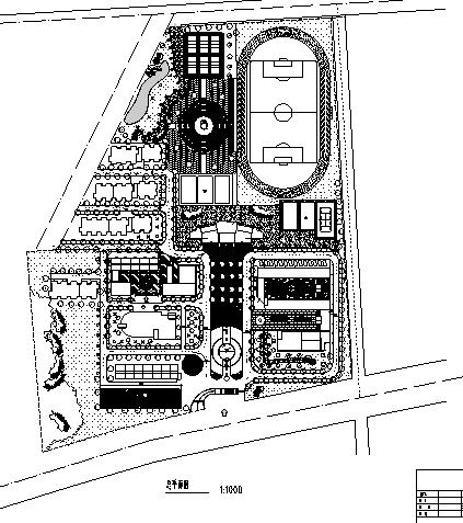 韦德娱乐1946老虎机_40套大学校园规划总平面图CAD方案图纸_1
