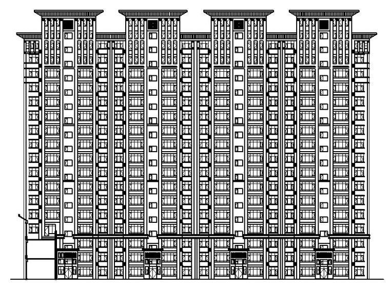[宁夏]高层框剪结构石材外墙商住楼建筑施工图