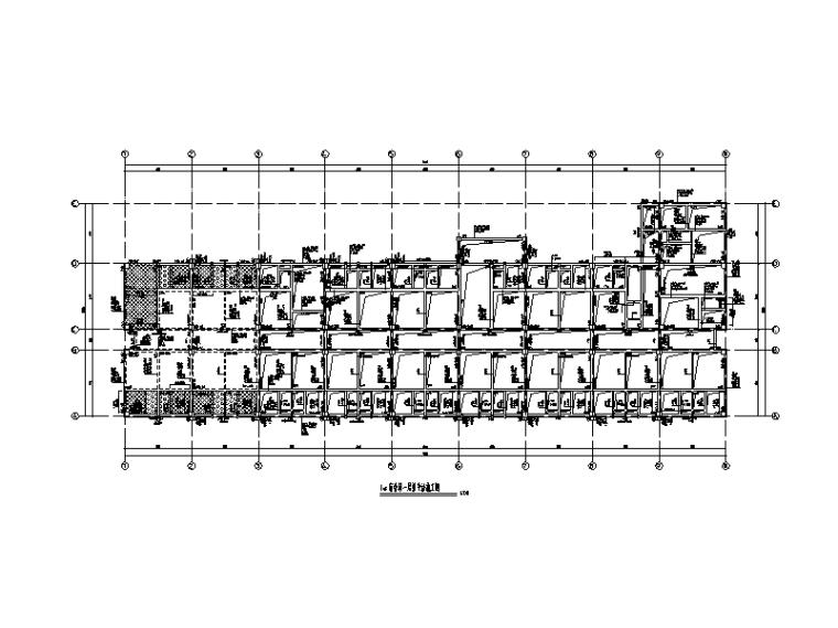 6层钢混框架结构大学宿舍楼建筑结构施工图