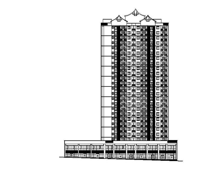 [重庆]高层石漆外墙塔式住宅楼建筑施工图