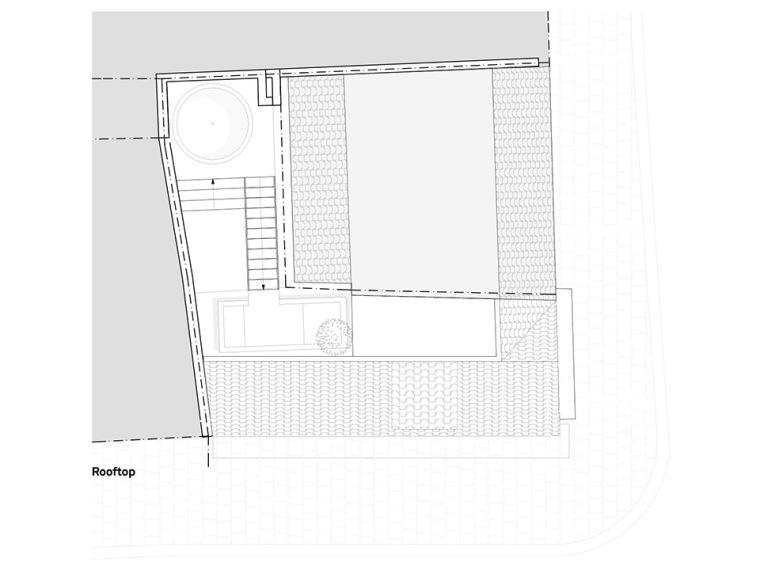 比利时一室小型酒店建筑平面图 (18)