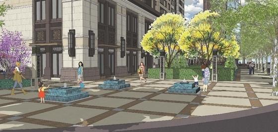 [北京]私家简洁华丽住宅规划设计方案-住宅景观效果图