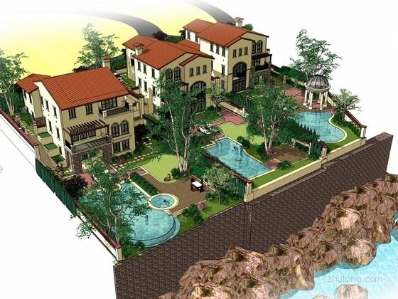 [山东]地中海风格庭院景观规划设计方案(知名设计单位)