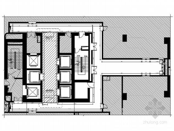 [上海]枢纽中心高档休闲会所电梯厅CAD装修施工图(含效果)