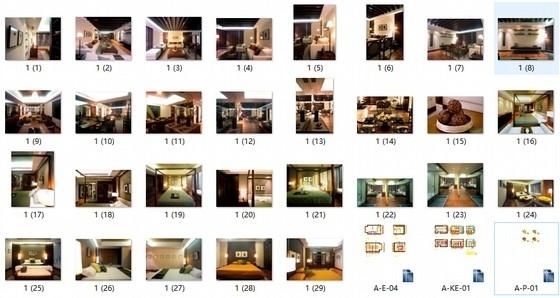 [上海]标准层三居室样板房装修施工图(含实景效果图)缩略图